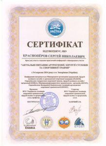 Сертификат Красноперов Сергей