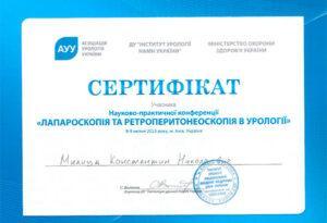 Сертификат Милица Константин