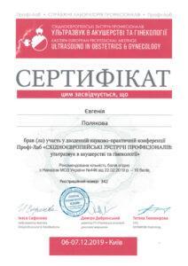 Сертификат Полякова Евгения