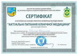Сертификат Робейко Катерина