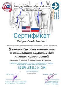 Сертификат Омельченко Вадим