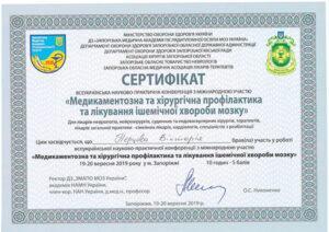 Сертификат Перцова Виктория