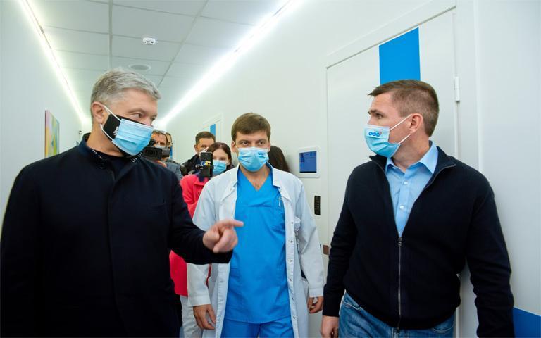 Петр Порошенко в Клинике Святого Николая