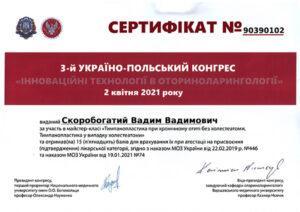 Сертификат Скоробогатый Вадим Вадимович