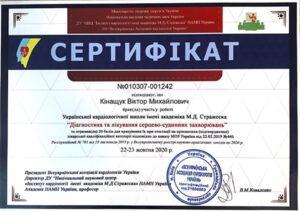 Сертификат Кинащук Виктор Михайлович